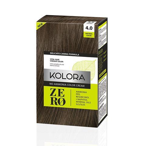 Kolora Zero Безамонячна полутрайна крем-боя за коса 4.0 Натурално какао