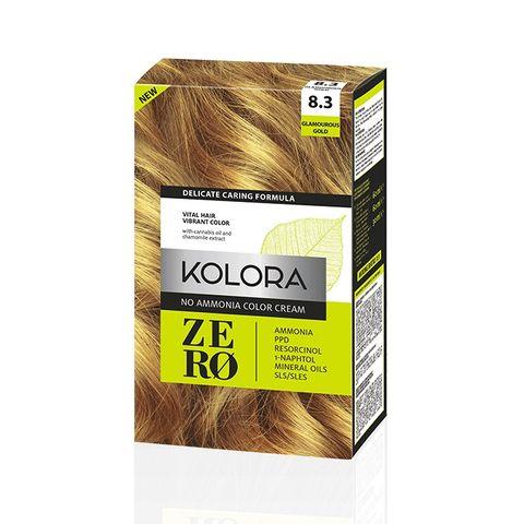 Kolora Zero Безамонячна полутрайна крем-боя за коса 8.3 Блестящо рус