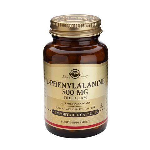 Solgar Л-фенилаланин  при депресия 500мг х50 капсули