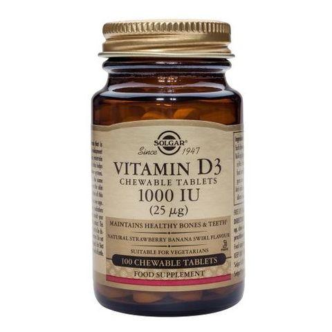 Solgar Витамин D3 за имунната система 1000iu х100 таблетки