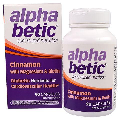 Enzymatic Therapy Alpha Betic Канела, Магнезий и Биотин При диабет х90 капсули