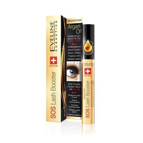 Eveline SOS Подхранващ серум за мигли 5в1 с арганово масло х10 мл