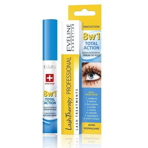 Eveline Total Action Интензивен серум за мигли 8в1 с хиалуронова киселина х10 мл