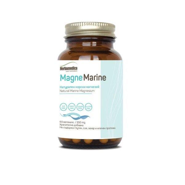 Magne Marine Натурален морски магнезий 350 мг х60 капсули Herba Medica