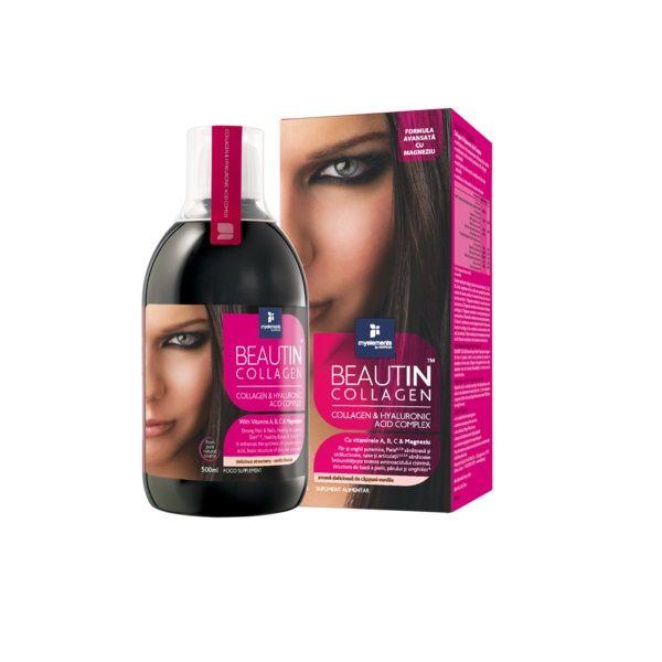 Myelements Beautin Collagen с вкус на ягода и ванилия за здрави коса, кожа и нокти х500 мл