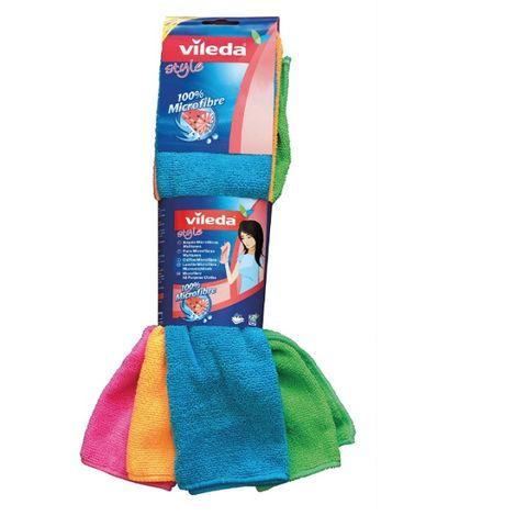 Vileda Style Microfibre Микрофибърна универсална кърпа x4 броя