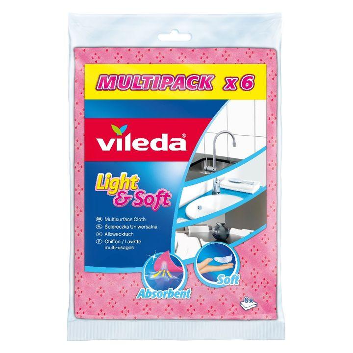 Vileda Light & Soft Универсална кърпа за домакинство x6 броя
