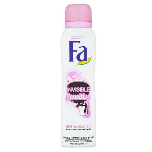 Fa Invisible Sensitive Део спрей против изпотяване за жени с чувствителна кожа х150 мл