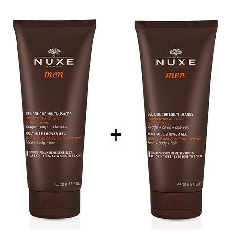 Nuxe Men Промо комплект Мултифункционален душ гел за мъже за лице, тяло и коса 2x200 мл
