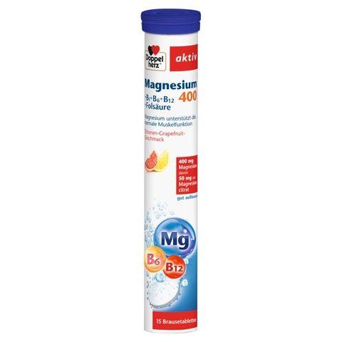 Doppelherz Aktiv Магнезий 400 + B Витамини х15 ефервесцентни таблетки