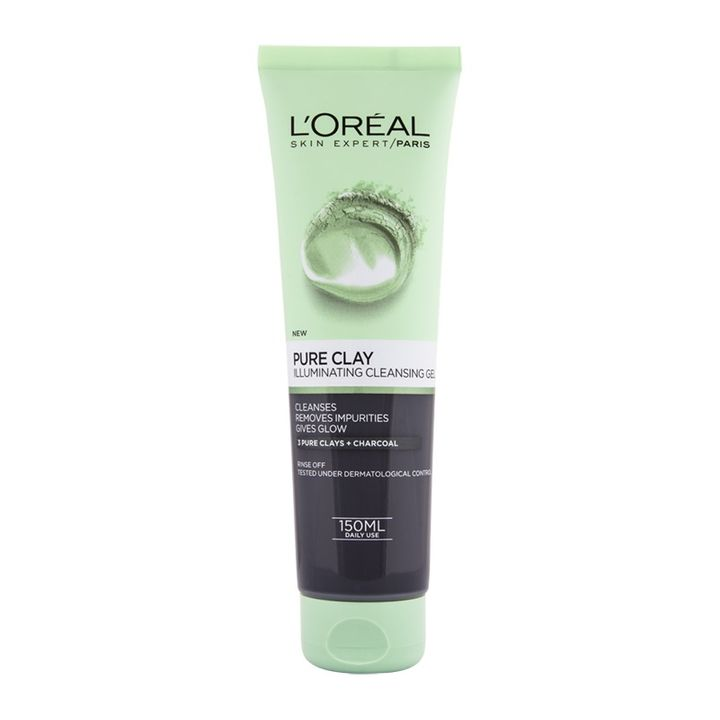 Loreal Pure Clay Illuminating Озаряващ и почистващ гел за лице x150 мл