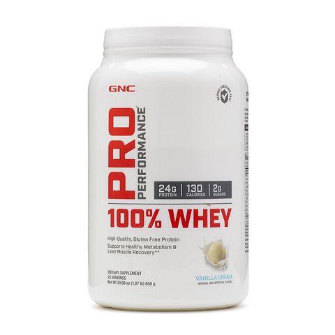 GNC Pro Performance Висококачествен суроватъчен протеин с вкус на ванилов крем х850 грама