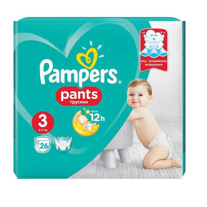 Pampers Pants 3 Пелени-гащи за бебета и деца 6-11кг х26 броя