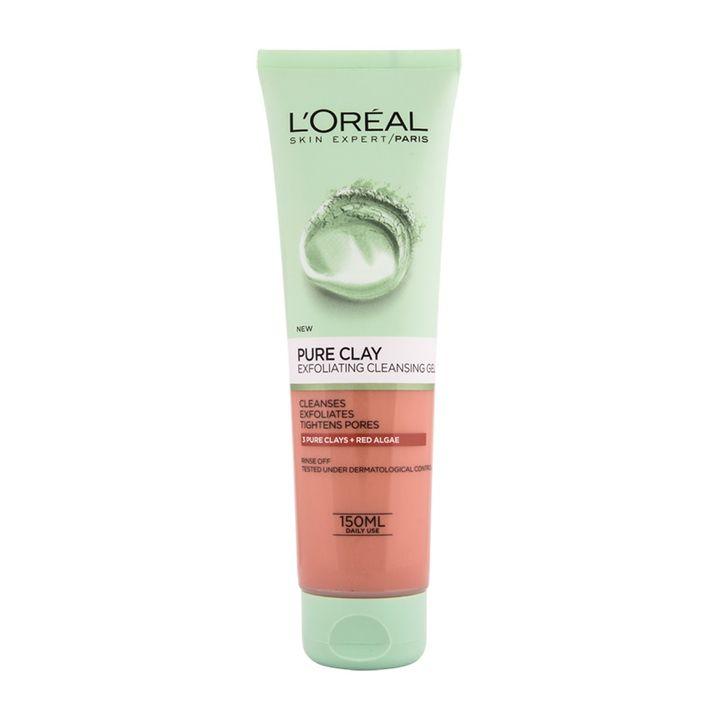 Loreal Pure Clay Exfoliating Ексфолиращ и почистващ гел за лице x150 мл