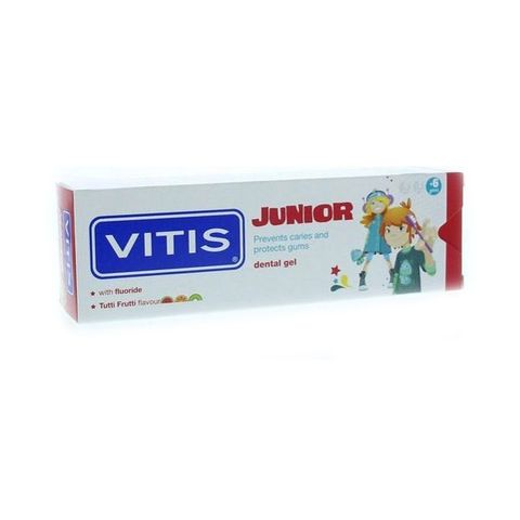 Vitis Junior Детска паста за зъби с вкус на тути фрути x75 мл