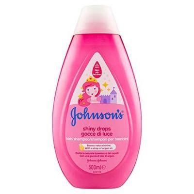 Johnson's Shiny Drops Детски шампоан за коса за блясък и гладкост х500 мл