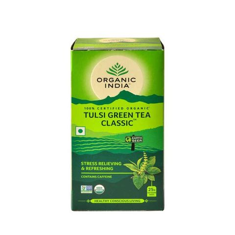 Organic India Tulsi Зелен чай за антиоксидантна защита x 18 филтърни торбички