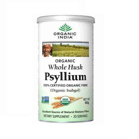 Organic India Psyllium Фибри за храносмилателния тракт и отделителната система х100 грама