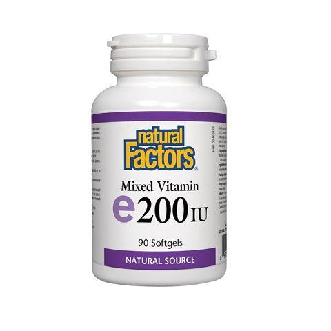 Natural Factors Витамин Е Токофероли микс антиоксидантна защита 200IU х90 капсули