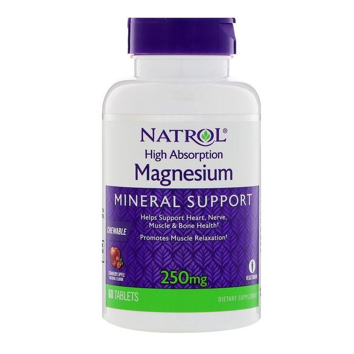 Natrol Магнезий 250 мг х60 дъвчащи таблетки