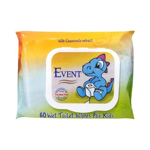 Event Влажни WC тоалетни кърпички с капак за деца х60 броя