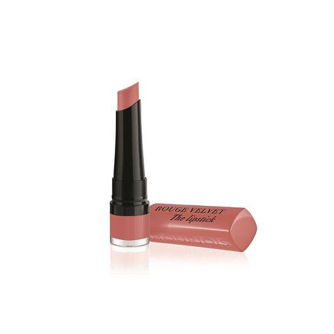 Bourjois Rouge Velvet Matte Дълготрайно матиращо червило, цвят 02 Flaming' Rose