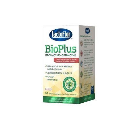 Лактофлор Био Плюс Пробиотик + Пребиотик за стомашно-чревен комфорт и силен имунитет x60 капсули