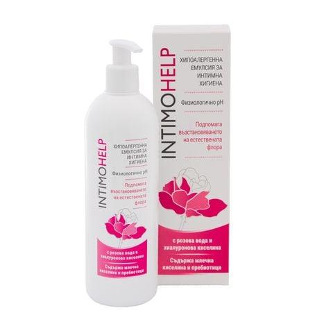 Intimo Help Хипоалергенна емулсия за интимна хигиена с розова вода и хиалуронова киселина х400 мл Naturprodukt