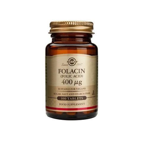 Solgar Folacin Фолиева киселина 400 мг х100 таблетки
