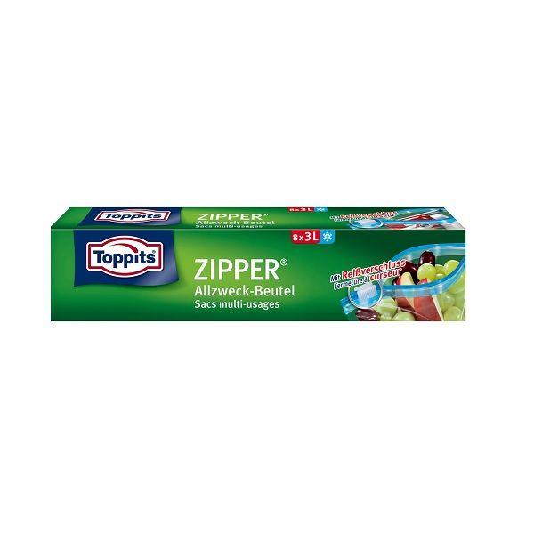 Zipper Мултифункционален плик с цип, 3 л x8 броя