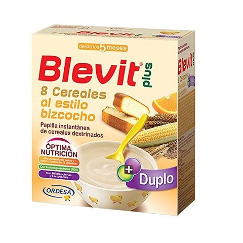 Blevit plus Duplo Каша 8 житни растения с кейк портокал с бифидус ефект за деца от 5 месечна възраст х600 грама