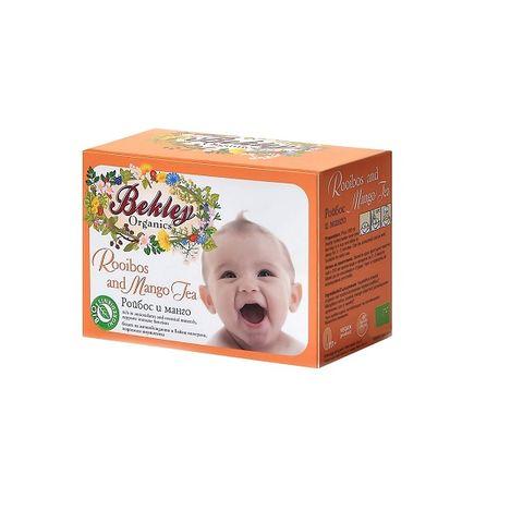 Bekley Чай Ройбос и манго за бебета x30 грама -  20 филтърни пакетчета