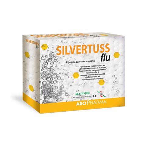 Silvertuss flu Сашета при кашлица и възпалено гърло х10 броя Abopharma