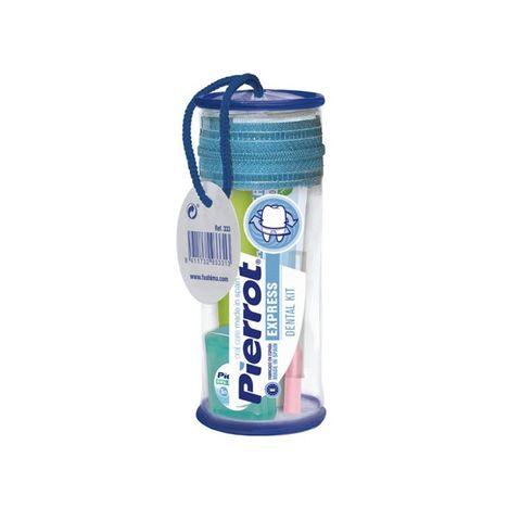 Pierrot Express Travel Промо комплект за устна хигиена по време на път с подарък Несесер