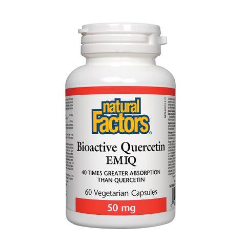 Natural Factors Bioactive Quercetin EMIQ Ензимно модифициран изокверцетин x60 капсули