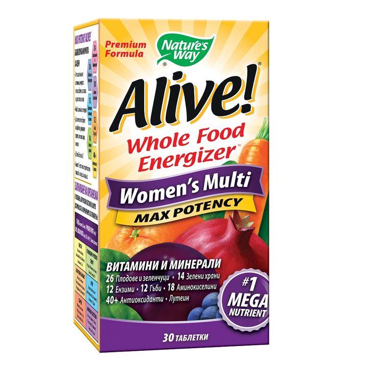 Alive Мултивитамини за жени x30 таблетки Nature's Way