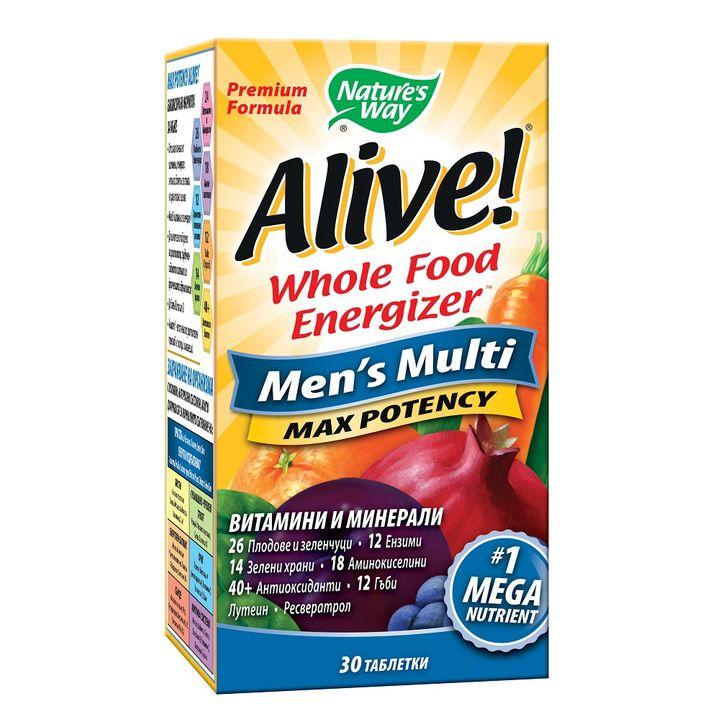 Alive Мултивитамини за мъже x30 таблетки Nature's Way