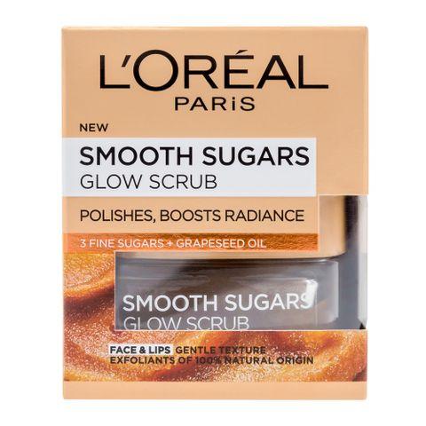 Loreal Smooth Sugar Glow Озаряващ пилинг за лице и устни x50 мл