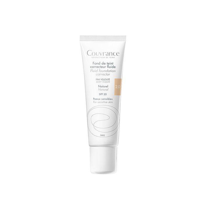 Avene Couvrance Фон дьо тен за чувствителна кожа, 2.0 Natural SPF 20 x30 мл