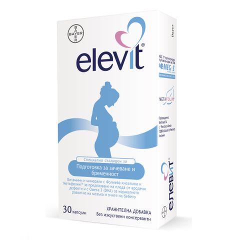Елевит Мултивитамини и минерали за подготовка за зачеване и периода на бременност x30 капсули Bayer