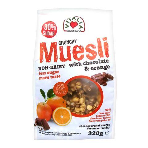 Vitalia Crunchy Muesli Mюсли с шоколад и портокал x320 грама