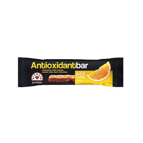 Vitalia Antioxidant bar Зърнен бар с портокал и шоколад x30 грама