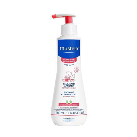 Mustela Измиващ гел за коса и тяло за бебета и деца с чувствителна и много чувствителна кожа х300 мл