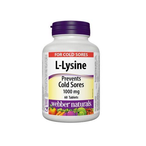 Webber Naturals L-Lysine При херпес 1000 мг х60 таблетки
