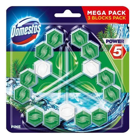 Domestos Pine Ароматизатор за тоалетни чинии с аромат на бор x3 броя