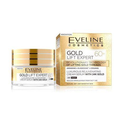 Eveline Gold Lift Expert Дневен и нощен крем за лице против бръчки 60+ х50 мл