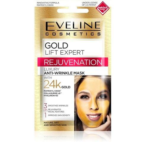 Eveline Gold Lift Expert Маска за лице против бръчки със злато х7 мл