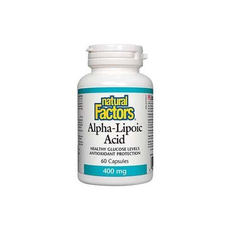 Natural Factors Alpha-Lipoic Acid За нормани нива на кръвната захар  400 мг x60 капсули