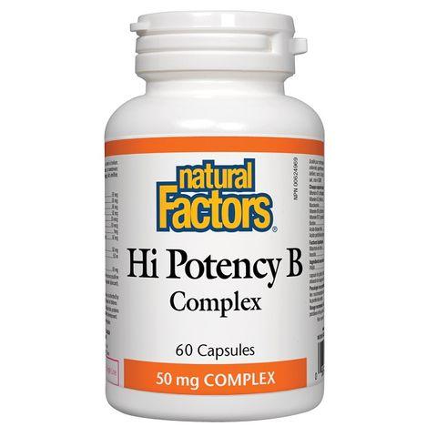 Natural Factors Hi Potency В-комплекс 50 мг х60 капсули