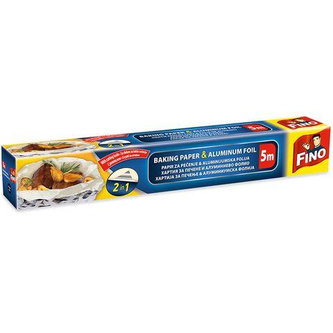 Fino 2in1 Хартия за печене с алуминиево фолио x5 метра